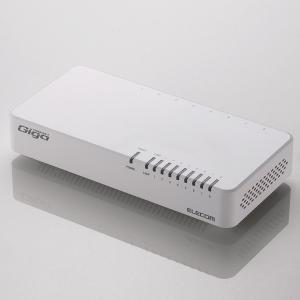 エレコム ELECOM  スイッチングハブ ギガビット 8ポート マグネット付き 電源内蔵 EHC-G08PN-JW|cocoawebmarket