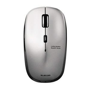 エレコム ワイヤレスマウス BlueLED 静音マウス 5ボタン 2.4GHz シルバー M-BL21DBSSV cocoawebmarket