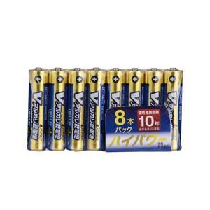 【メール便のみ】オーム電機 単4形 Vアルカリ乾電池 UPPER 10年保存可能 ハイパワー 8本入 LR03/S8P/U 07-9967|cocoawebmarket