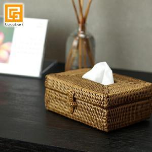 アタ ポケットティッシュケース   アジアン雑貨 バリ おしゃれ 小さい ドレッサー かご アタ製品 バリ島 エスニック バリ雑貨 cocobari