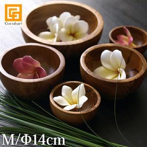ボウル(チーク)ナチュラル(M)   木製 バリ サロン スパ用品 おしゃれ バリ風 インテリア バリ雑貨 ココバリ|cocobari