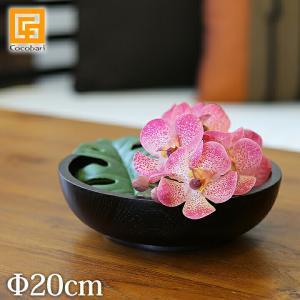 ボウル(チーク)ダークブラウン(20cm)   木製 バリ サロン スパ用品 おしゃれ バリ風 インテリア バリ雑貨 ココバリ|cocobari