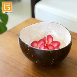 ココナッツのボウル(シェル) 椰子 バリ サロン スパ用品 おしゃれ バリ風 インテリア バリ雑貨|cocobari