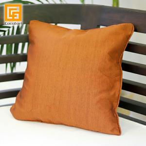 クッションカバー プレーン(Orange Brown) 40×40cm    バリ雑貨 おしゃれ バリ風 インテリア メール便対応可 cocobari