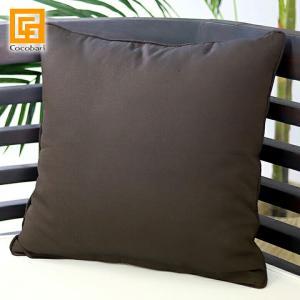 クッションカバー プレーン(Brown) 45×45cm    アジアン バリ雑貨 おしゃれ 茶色 シンプル バリ風 インテリア メール便対応可 cocobari