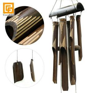 ■商品説明 バリでよく見かけるバンブー風鈴、音はとても良いのですが、コテコテのデザインのものが多く、...
