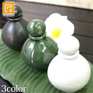 オイルボトルS 陶器    バリ マッサージオイル アロマオイル バリ雑貨 バリ風 インテリア cocobari