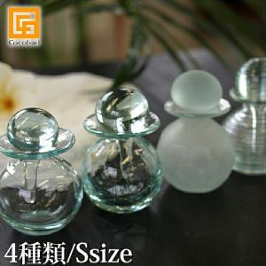 オイルボトルS ガラス   バリガラス バリ雑貨 マッサージオイル アロマオイル バリ雑貨 バリ風 インテリア|cocobari