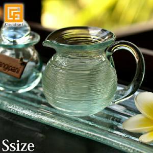 オイルピッチャーS ガラス   バリ マッサージオイル アロマオイル バリ雑貨 バリ風 インテリア|cocobari