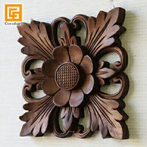木彫りのレリーフ(お花2)   壁掛け 壁飾り アジアン バリ 木製 ウッドレリーフ バリ雑貨 バリ風 インテリア|cocobari