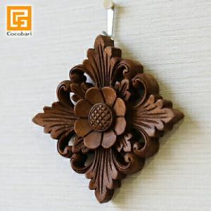 木彫りのレリーフ(お花2)ミニサイズ    壁掛け 壁飾り アジアン バリ 木製 ウッドレリーフ バリ雑貨 バリ風 インテリア|cocobari
