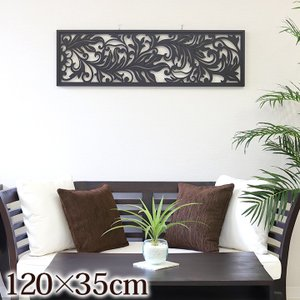 アートパネル(120×35cm)   アジアン 花 アートフレーム 木製 壁掛け 壁飾り モダン スタイリッシュ バリ雑貨 バリ風 インテリア|cocobari