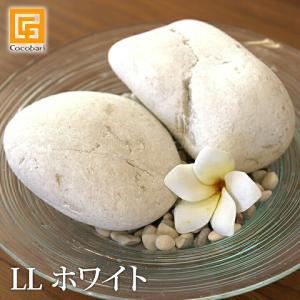 ナチュラルストーン(LL)ホワイト(2個) 化粧石 飾り石 装飾用 ストーンペインティング 白い石 観葉植物 土隠し バリ雑貨 バリ風 インテリア cocobari