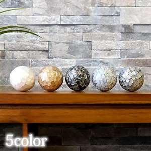 シェルのインテリアボール(5色展開)   アジアン雑貨 バリ おしゃれ 貝 デコレーション オブジェ 球体 バリ雑貨 風水 キラキラ バリ風 インテリア|cocobari