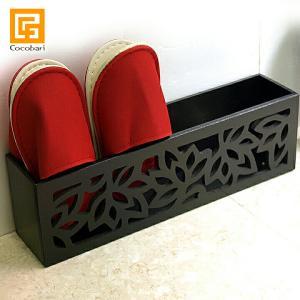 木製 スリッパラック(ロータス模様)   アジアン雑貨 バリ おしゃれ スリム シンプル リゾート バリ雑貨 バリ風 インテリアlxl|cocobari