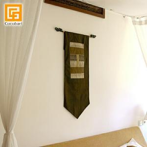 タペストリー(茶色)   アジアン バリ 壁掛け 壁飾り 和室 バリ雑貨 バリ風 インテリア メール便対応可|cocobari