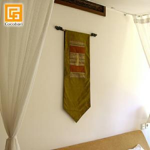タペストリー(グリーン)   アジアン バリ 壁掛け 壁飾り 和室 バリ雑貨 バリ風 インテリア メール便対応可|cocobari