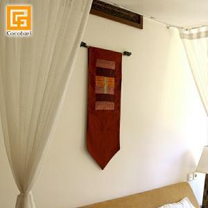 タペストリー(赤色)   アジアン バリ 壁掛け 壁飾り 和室 バリ雑貨 バリ風 インテリア メール便対応可|cocobari