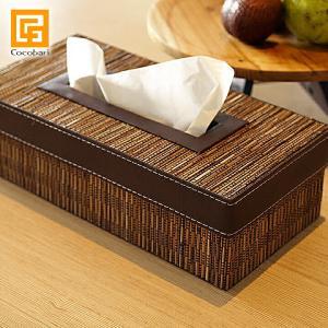 ティッシュボックス (椰子)   アジアン雑貨 バリ おしゃれ ティッシュケース エスニック バリ雑貨 バリ風 インテリア|cocobari