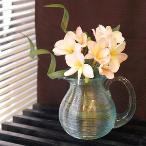 ガラスVASE(ピッチャー型)   おしゃれ フラワーベース   シンプル 花器 花瓶 水差し バリ雑貨 バリ風 インテリア cocobari