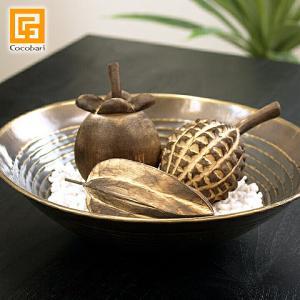 木製のフルーツ3点セット   果物 オブジェ バリ雑貨 バリ風 インテリア|cocobari