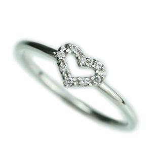 リング ハート ダイヤモンド リング k10 イエローゴールド/ホワイトゴールド/ピンクゴールド ファッション 天然ダイヤ 日本製 おしゃれ ギフト プレゼント|cococaru