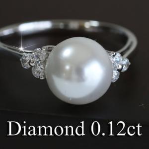 ダイヤモンド 淡水パール 指輪 リング シルバー レディース 人気|cococaru