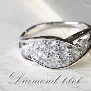 ダイヤモンド VSクラス Gカラー 1.0カラット プラチナ Pt950 指輪 リング レディース 人気|cococaru