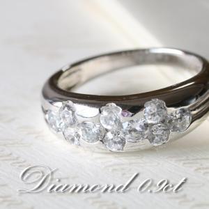 ダイヤモンド VSクラス Gカラー 0.9カラット プラチナ Pt950 指輪 リング レディース 人気|cococaru