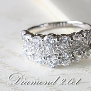ダイヤモンド VSクラス Gカラー 2.0カラット プラチナ Pt950 指輪 リング レディース 人気|cococaru