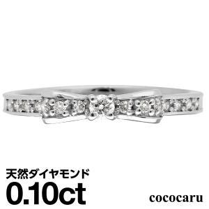ダイヤモンド 指輪 リング シルバー リボン レディース 人気|cococaru