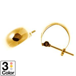 ピアス 月甲 フープ k10 イエローゴールド/ホワイトゴールド/ピンクゴールド日本製 新生活 母の日 ギフト プレゼント|cococaru