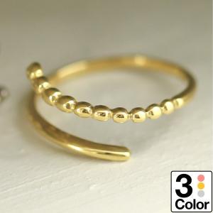 地金 リング フォークリング k18 イエローゴールド/ホワイトゴールド/ピンクゴールド ファッションリング 品質保証書 日本製 おしゃれ ギフト プレゼント|cococaru