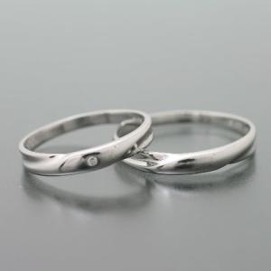 ペアリング マリッジリング 結婚指輪 プラチナ ダイヤモンド 2本セット|cococaru