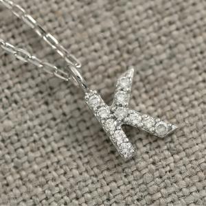 ダイヤモンド 選べるイニシャル ネックレス プラチナ900 金属アレルギー 天然ダイヤ 日本製 おしゃれ ギフト プレゼント|cococaru