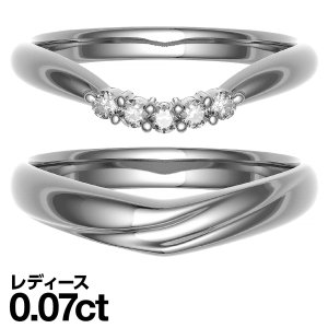 マリッジリング ペアリング プラチナリング ダイヤモンド 結婚指輪 2本セット cococaru