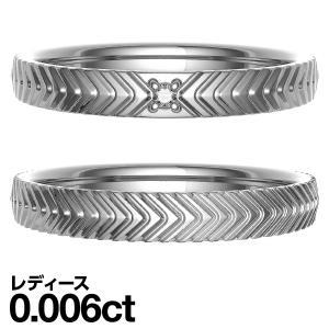 ペアリング K10 ホワイトゴールド リング ダイヤモンド 結婚指輪 マリッジリング 2本セット|cococaru