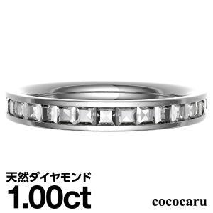 プリンセスカット フルエタニティ ダイヤモンド 指輪 プラチナ レディース 人気|cococaru