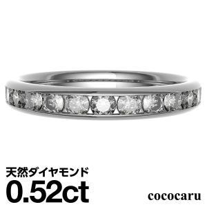 太 エタニティリング 2.8mm幅 ハーフエタニティ ダイヤモンド 指輪 K10 ホワイトゴールド ピンクゴールド イエローゴールド リング レディース 人気|cococaru