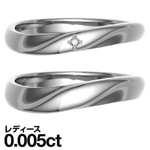 ペアリング シルバー リング ダイヤモンド 結婚指輪 マリッジリング 2本セット|cococaru