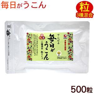 沖縄産 やんばる毎日がうこん 500粒 粒タイプ(袋) 3種混合|cocochir