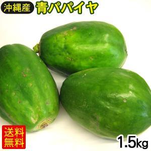 青パパイヤ 1kg (沖縄産)
