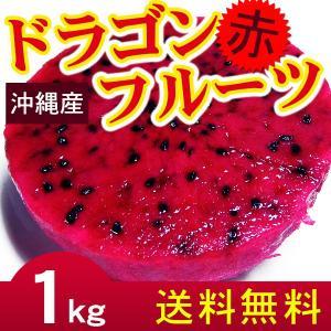 沖縄産ドラゴンフルーツ(赤)1kg(2〜5玉) 自宅用