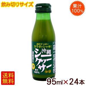 沖縄シークワーサー 95ml×24本 (果汁100%) 飲みきりサイズ シークワーサージュース|cocochir