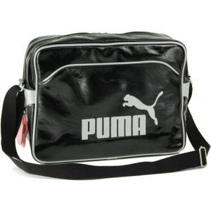 PUMAプーマ ベース リポーターバッグ02.ブラック/シルバー A4ショルダーバッグOFF セール|cocochiya