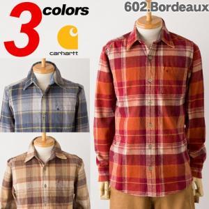 カーハート チェック フランネルシャツCARHARTT Hubbard Plaid Slim Shirt|cocochiya