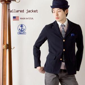 フィデリティ 米国製 テーラードジャケット FIDELITY MADE IN USA 紺ブレザー メンズ|cocochiya