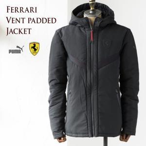 プーマ フェラーリ ベント パデッド ジャケット PUMA FERRARI VENT PADDED JACKET 573458-01 メンズ 中綿ジャケット キープヒート|cocochiya