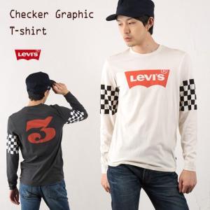 リーバイス バットウィング Tシャツ LEVI'S チェッカーフラッグ 長袖 ロンT メンズ|cocochiya