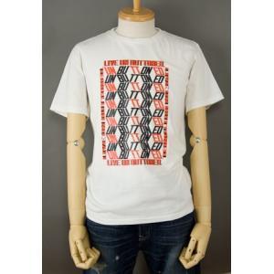 OFF セール LEVI'S RED TAB プリント Tシャツ 501 リブアンボタンド・パターンビンテージホワイト×ブラック×レッド リーバイス レッドタブ|cocochiya